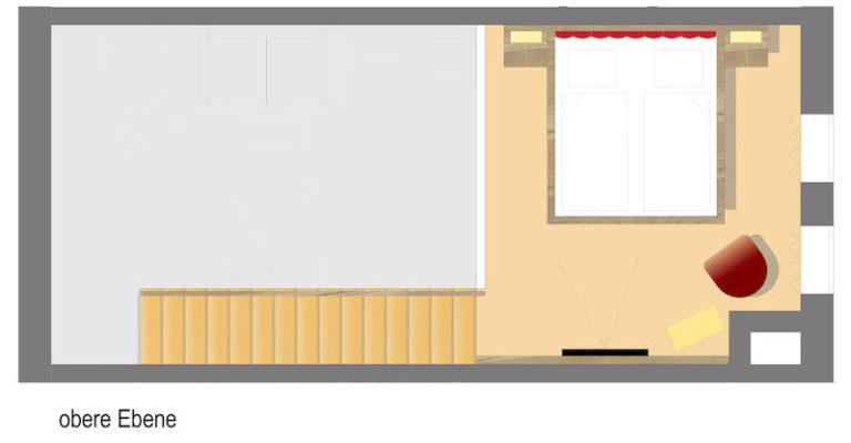 Grundriss Komfort Galeriezimmer 40qm