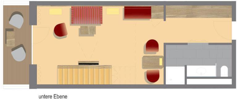 Grundriss Komfort Galeriezimmer