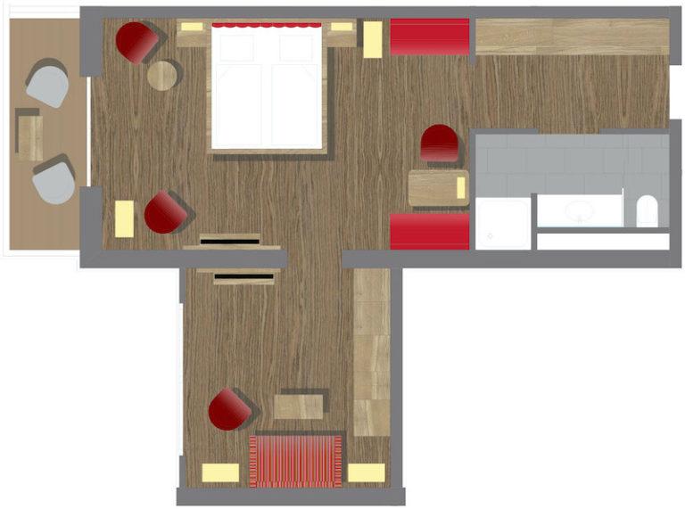 Grundriss Morgentau Suite