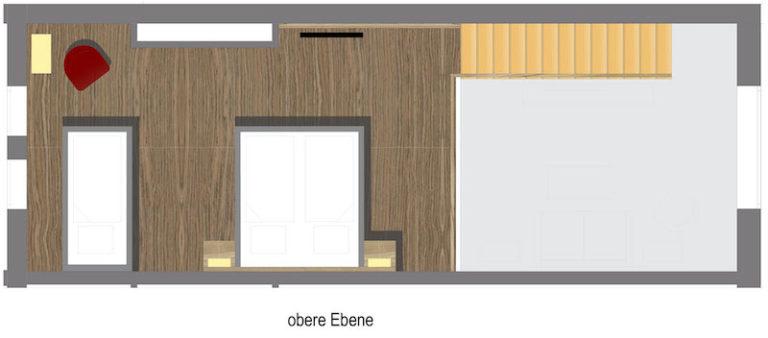 Grundriss Familienzimmer obere Ebene