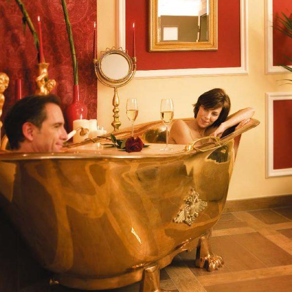 Paar-in-Badewanne