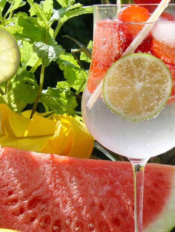 Sommergetraenke-und-Melone