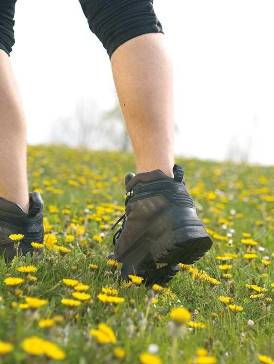 Wanderer-Schuhe-und-Waden